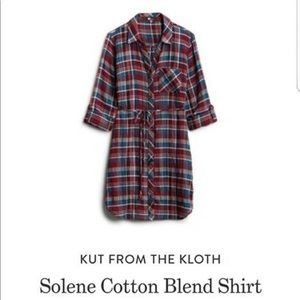 Kut from the Kloth flannel soleen red dress XL